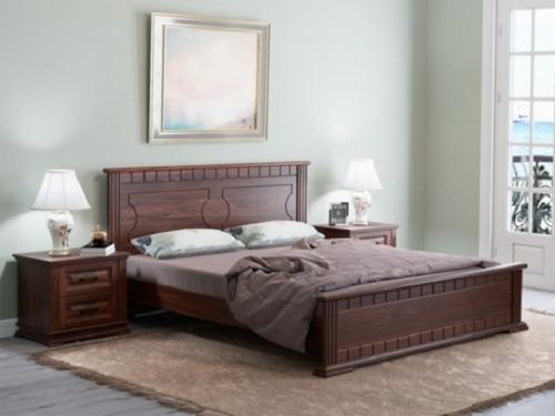 Кровать Венеция-М с основанием из массива сосны (Райтон)