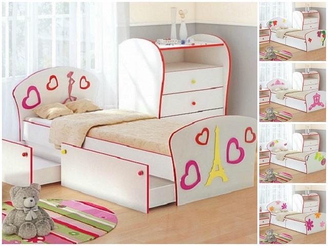 Кровать детская Соната Kids Плюс для девочек с выкатным ящиком (Орматек)