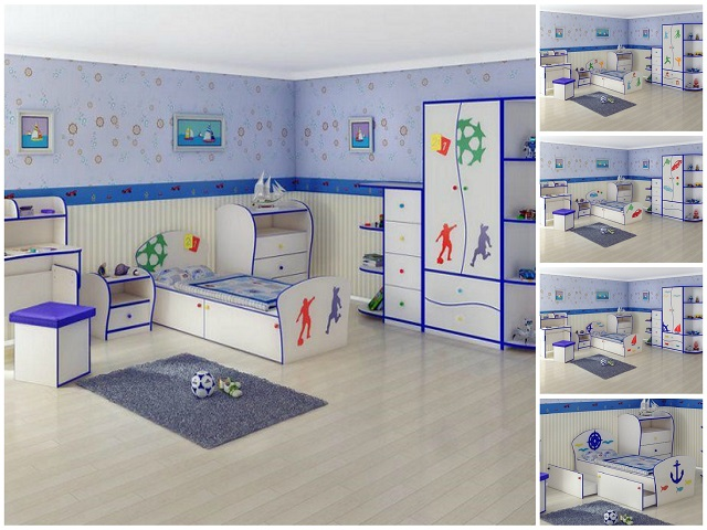 Кровать детская Соната Kids Плюс для мальчиков с выкатным ящиком (Орматек)
