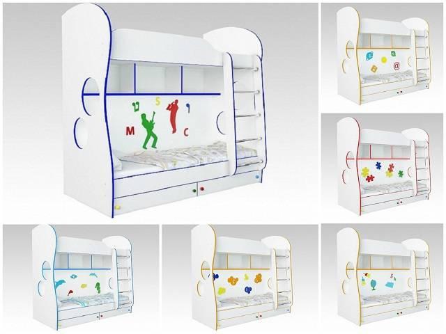 Детская двухъярусная кровать Cоната Kids для мальчиков и девочек(Орматек)