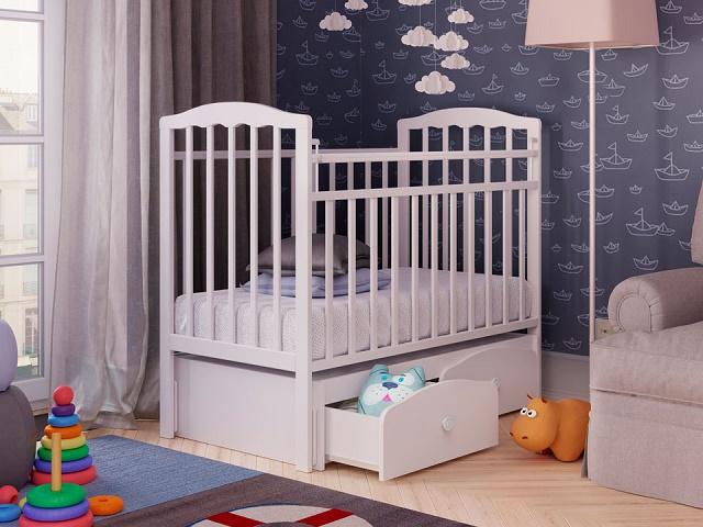 Детская кровать Золушка-7 (Массив Березы) (Орматек)