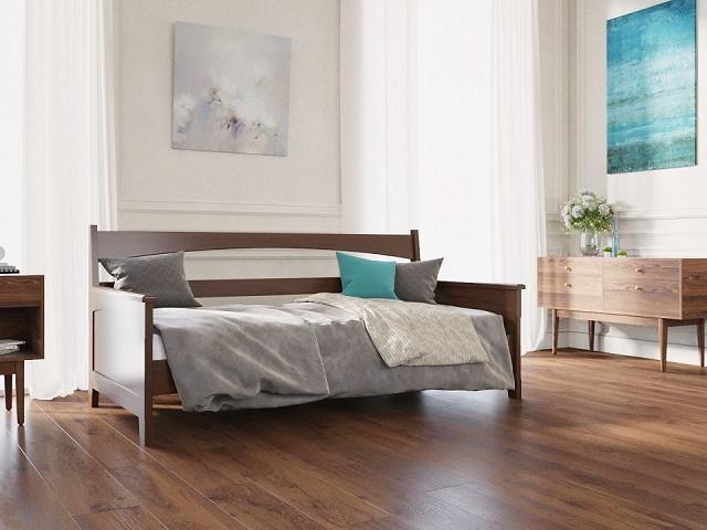 Кровать Марсель-софа с основанием массив бук (Райтон)