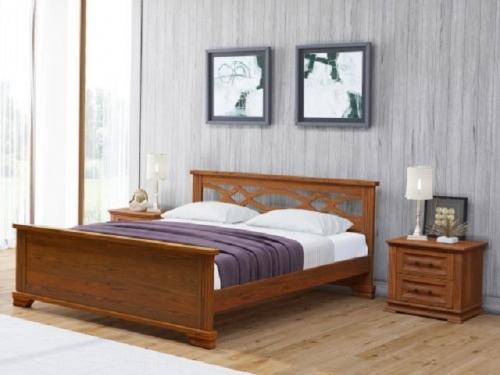 Кровать Лира с основанием из массива карельской сосны (Райтон)