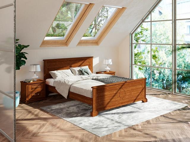 Кровать Amati (Амати) с основанием, массив сосна (Райтон)
