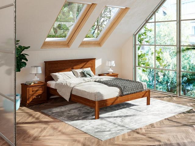 Кровать Amati-тахта (Амати-тахта) с основанием, массив сосна (Райтон)