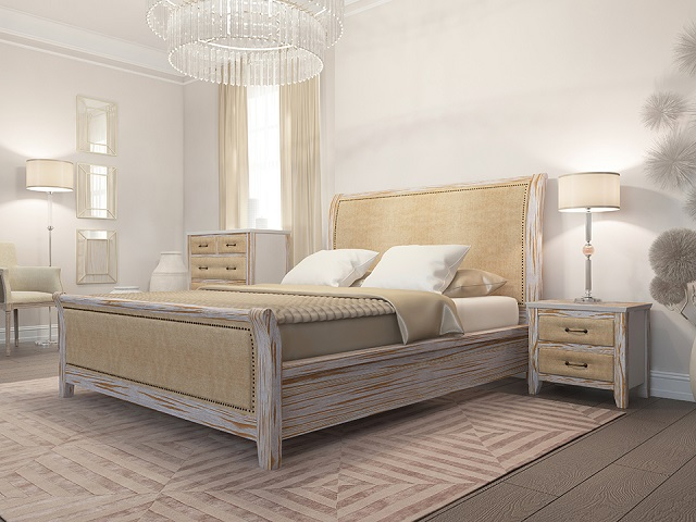 Комбинированная кровать Dublin Antic двуспальная (с основанием) массив сосна (Райтон)