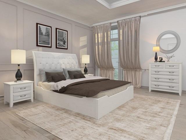 Комбинированная кровать Lester двуспальная (с подъемным механизмом) массив сосна (Райтон)