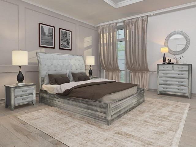Комбинированная кровать Lester Antic (с подъемным механизмом) массив сосна (Райтон)