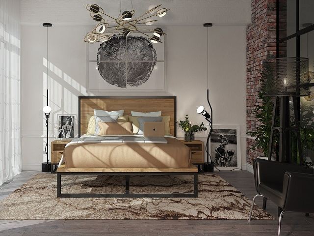 Кровать Loft L (Лофт Л)  со сплошным основанием (Райтон)