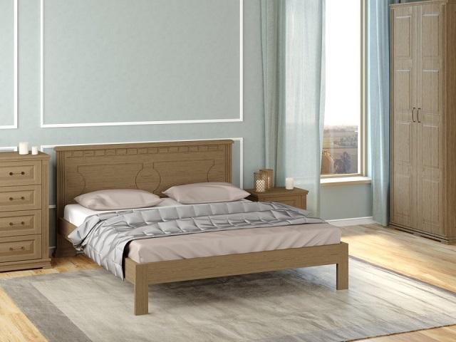 Кровать Milena-М-тахта (Милена-М-тахта) с основанием, массив сосна (Райтон)