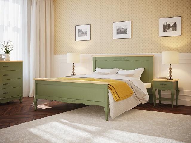 Кровать Provence (Прованс) (с основанием) массив бук (Райтон)