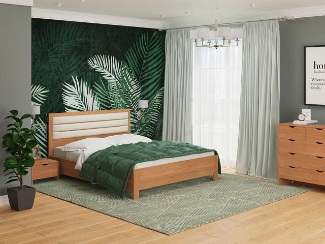 Комбинированная кровать Prima (Прима) с подъемным механизмом, массив сосна/ткань (Райтон)
