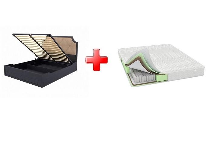 Кровать Richard (Ричард) с подъемным механизмом массив сосна + Матрас Classic Comfort Light M