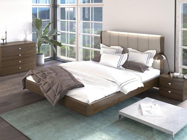 Кровать Rosso (Россо) с основанием (из массива и шпоном бука/дуба) (Райтон)