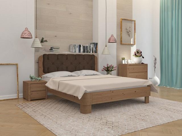 Кровать Wood Home 1 (Вуд Хом 1)  с основанием, массив сосна (Орматек)