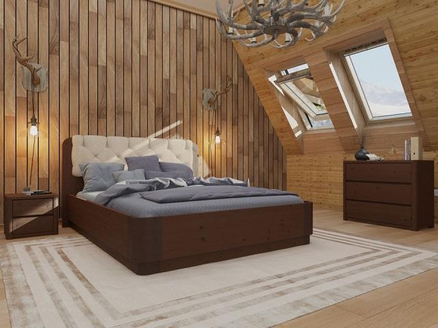Кровать Wood Home 1 (Вуд Хом) (с подъемным механизмом) массив сосна (Орматек)