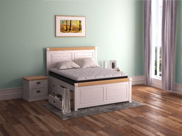 Кровать Woodstone двуспальная (с основанием) массив сосна (Райтон)