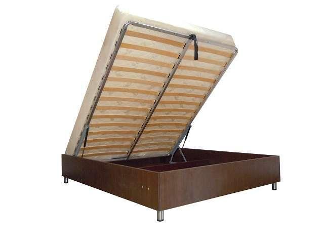 Кроватный блок с бельевым ящиком (узкая ламель)