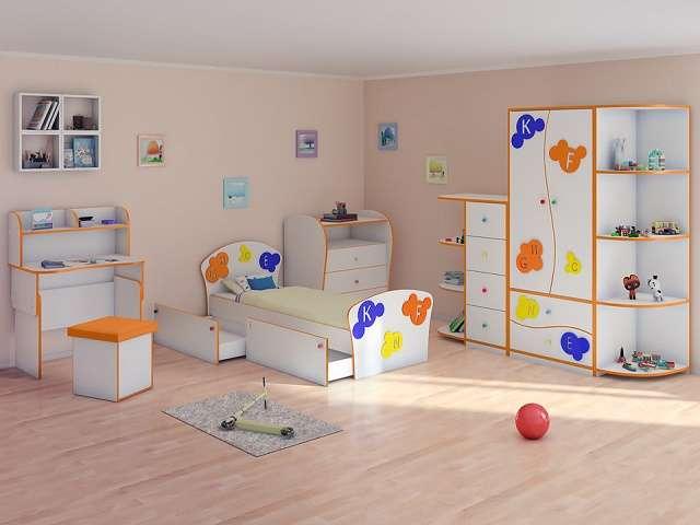 Кровать детская Соната Kids Плюс (с выкатным ящиком) (Орматек)