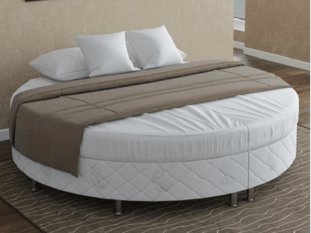 Кроватный бокс круглый Motel Round (жаккард Flaret) для гостиниц и пансионатов (Райтон)