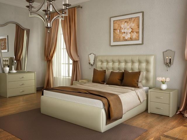 Кровать Аврора с основанием (Экокожа) (Лонакс)