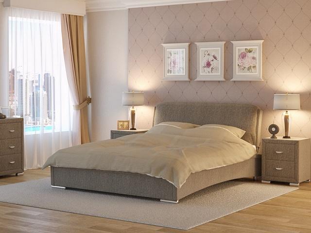 Кровать Nuvola 4 двуспальная, (1 подушка) без основания (Райтон)