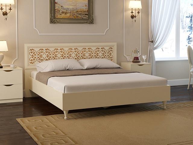 Кровать Flavia 1 двуспальная (с основанием) (Орматек)