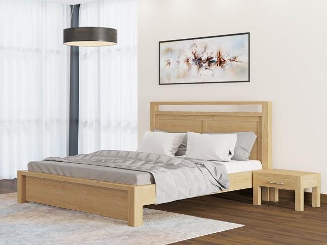 Кровать Fiord (Фиорд) с основанием, массив сосна (Райтон)