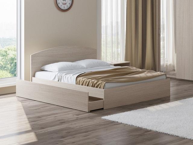 Кровать Этюд Плюс (с основанием и бельевым ящиком) (Орматек)