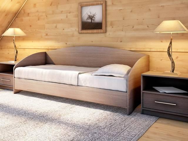 Кровать Этюд Софа (с основанием) ЛДСП (Орматек)