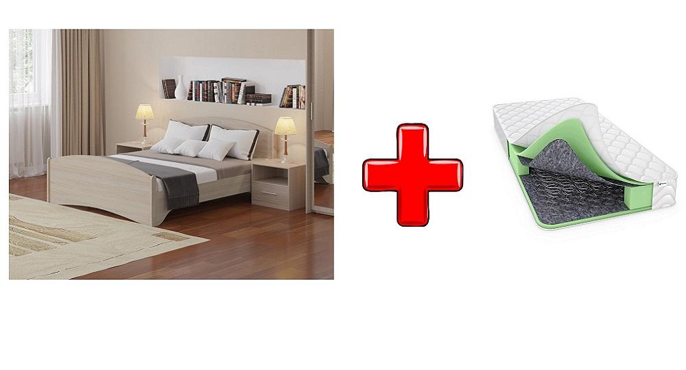 Кровать Аккорд с основанием и с матрасом Classic Bonnell P  (Райтон)
