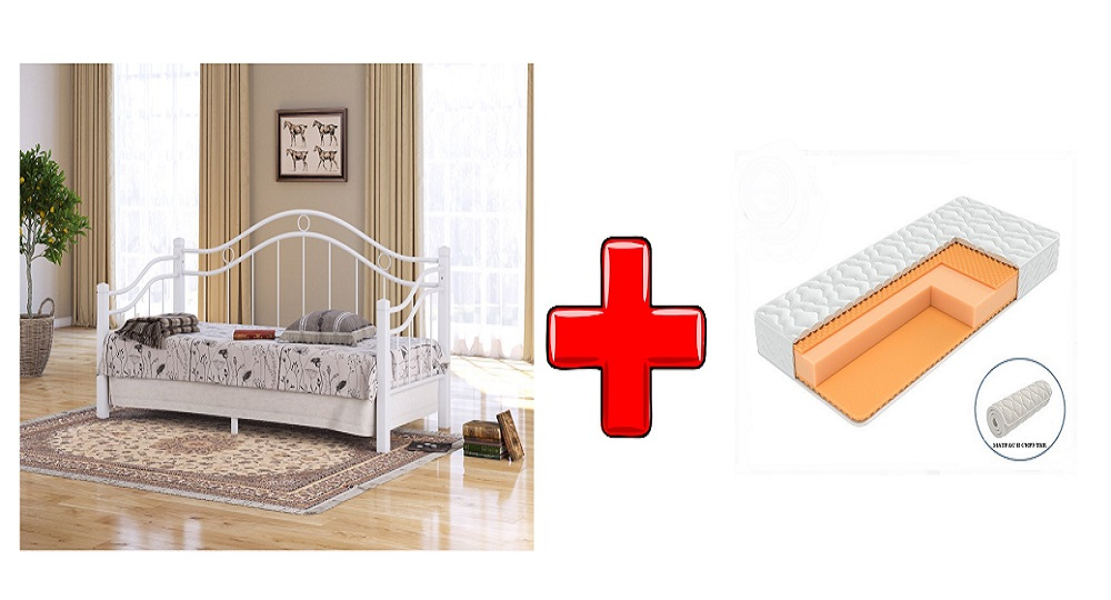 Кровать-софа Garda 8R (Гарда 8Р) с основанием и с матрасом Joga Hatha в скрутке (Райтон)