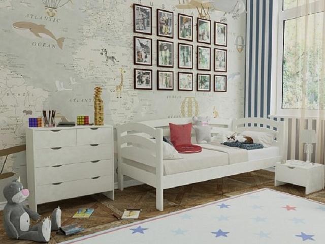 Кровать Веста софа-R (с основанием) массив сосна (Райтон)