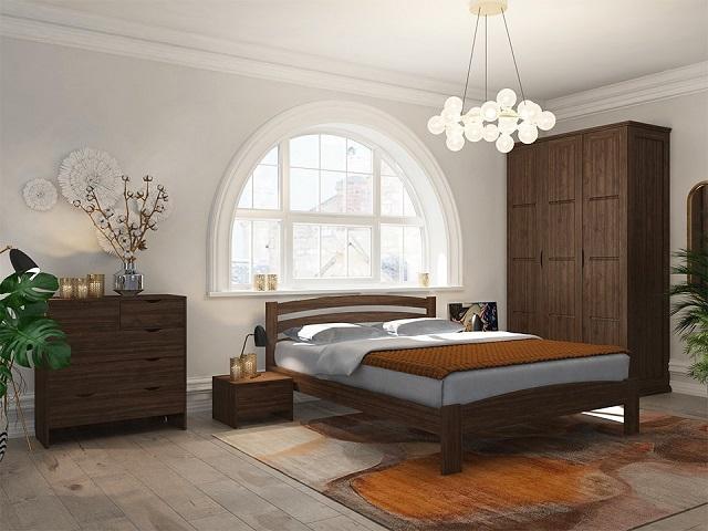 Кровать Веста 2-R (с основанием) массив сосна (Райтон)