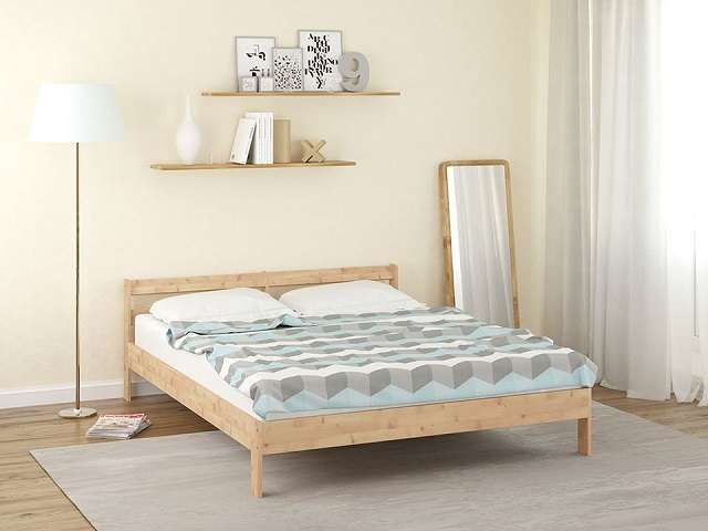 Кровать Оттава с основанием, массив сосна (Райтон)
