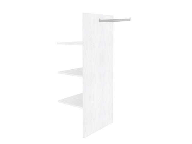 Комплект (перегородка, три короткие деревянные полки, вешало) для 2-х дв. шкафа Milena/Веста (Райтон)