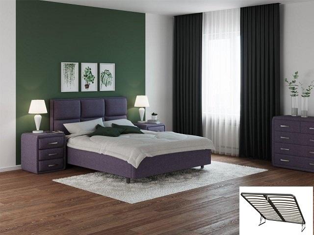 Двуспальная кровать Malina с подъемным механизмом (Райтон)