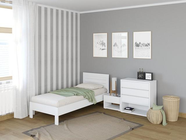 Кровать Кристофер (с основанием) массив сосна (ProSon)
