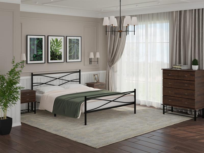 Кровать Страйп со встроенным основанием (Райтон)