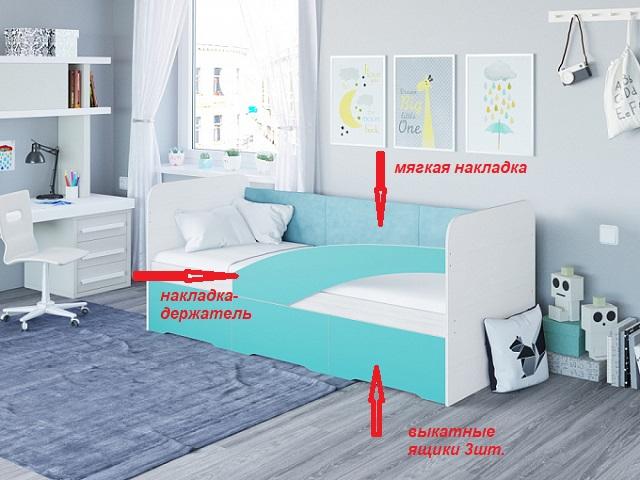 Кровать-софа детская Child (Чайлд) с основанием ЛДСП (Райтон)