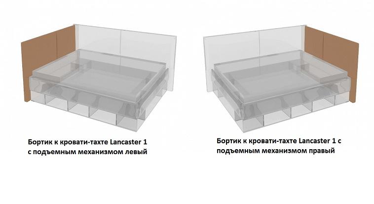Бортик к кровати-тахте Lancaster 1 с подъемным механизмом правый или левый (Орматек)