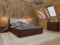 Кровать Wood Home 1 (Вуд Хом 1) с подъемным механизмом, массив сосна (Орматек)